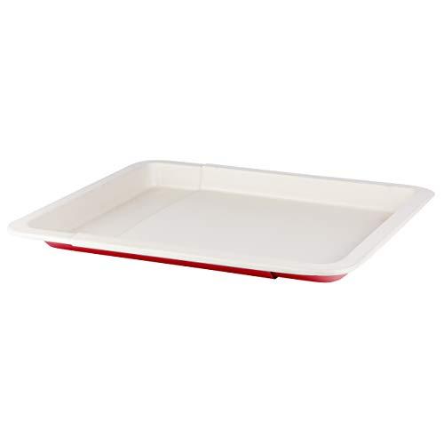 Grizzly Backblech ausziehbar 33-52 cm keramikbeschichtet antihaft Ofenblech passend für alle Backöfen Kuchenblech größenverstellbar Pizzablech zum Ausziehen...