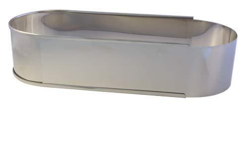 Lares - Backform/Backrahmen - aus rostfreiem Edelstahl - oval, in Folie - verstellbare Länge - Made in Germany