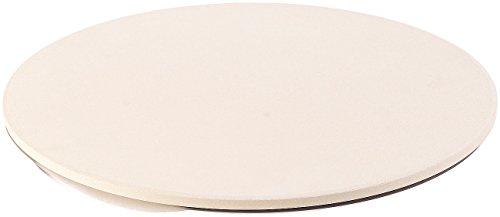Cucina di Modena Brotbackstein: Runder Pizzastein mit Aluminium-Servierblech, Ø 33 cm (Schamottstein)