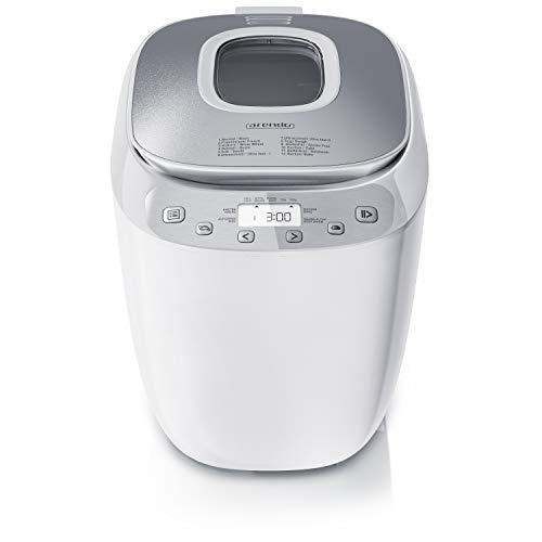 Arendo - Brotbackautomat BPA frei - Brotbackmaschine 12 Programme - glutenfrei Backen - 700-1000 g - Direktantrieb - Backmaschine mit Sichtfenster -...