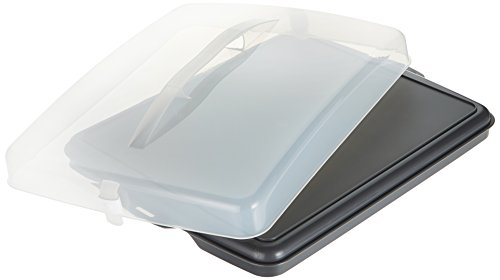 Xavax Blechkuchen-Transportbox (rechteckig, Transparente Haube mit Tragegriff, zur Aufbewahrung von Kuchen, Häppchen, etc., spülmaschinengeeignet, Kuchenbox,...