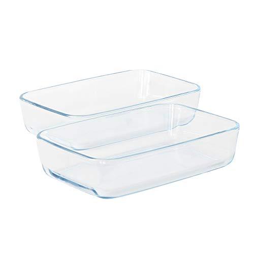 ProCook Ofenform aus Glas - rechteckig - 2-teilig - Auflaufformen - Set