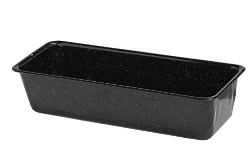 Riess, 0642-022, Königskuchenform 25/10 1,7 L, CLASSIC - BACKFORMEN, Maße 25 x 10 cm, Höhe 7,0 cm, Inhalt 1,5 Liter, Emaille, schwarz, Kastenform