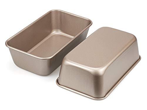 Tebery 2er-Set Kasten- und Brotbackformen, Brotbackformen, Brotbackform, Kastenform, antihaftbeschichtet, hitzebeständig, Karbonstahl, Rechteckig, 24 x 14,5 cm