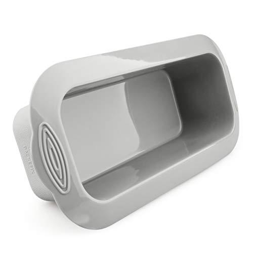 Backefix Brotbackform aus Silikon – rechteckige Backform für 1000g Brote – Antihaft-Kastenform, Brotform auch als Kuchenform – BPA frei, grau 26 cm, 2l...