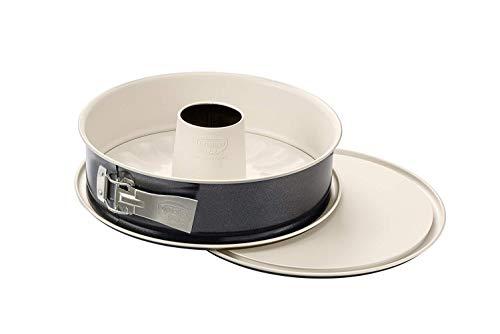 Dr. Oetker Springform mit Flach- und Rohrboden Ø 28 cm, Kuchenform mit 2 Böden, runde Backform aus Stahl mit keramisch verstärkter Antihaft-Beschichtung...