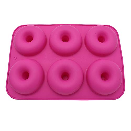 VENMO Home 6-Cavity Donut-Backform, Antihaft, Groß, Vertiefungen Silikon Donut Formen, Hohlraum Antihaft-Safe Backblech Maker Pan HitzebestäNdigkeit FüR...