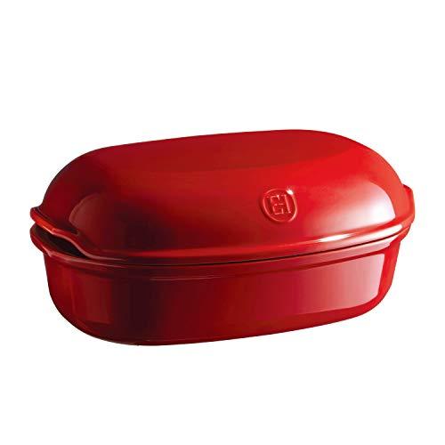 Emile Henry EH509501 Brot, Keramik, handgefertigt Rot Grand Cru