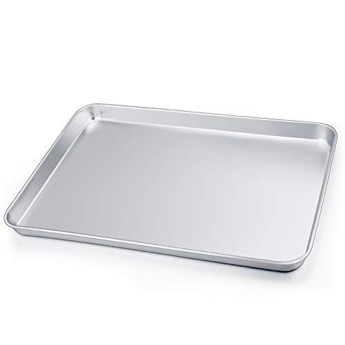 HaWare Backblech, Edelstahl Ofenblech Kuchenblech, 40 x 30 x 2.5cm, Rechteckige Fettpfanne Backofen Tablett zum Backen & Servieren - Ungiftig &Gesund, Leicht...