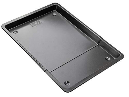 Zenker Universal-Backblech 37-52 cm BLACK METALLIC, Backblech rechteckig mit Antihaftbeschichtung, Ofenblech ausziehbar, Herdbackblech verstellbar (Farbe:...