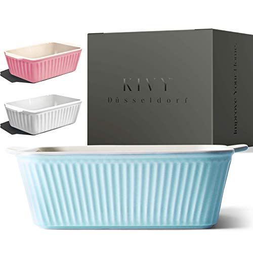 KIVY® Auflaufform Klein - Ideal für 1-2 Personen - Lasagne Auflaufform Klein - Auflaufform Keramik Klein - Lasagneform klein - Ofenform rechteckig - Tiramisu...