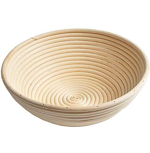 Gärkörbchen Rund ø20, Höhe 8 cm für 500-600 g Brot und Teig, ideale Runder Gärkorb aus natürlichem Peddigrohr, Banneton Proof Korb Backen Zubehör für...