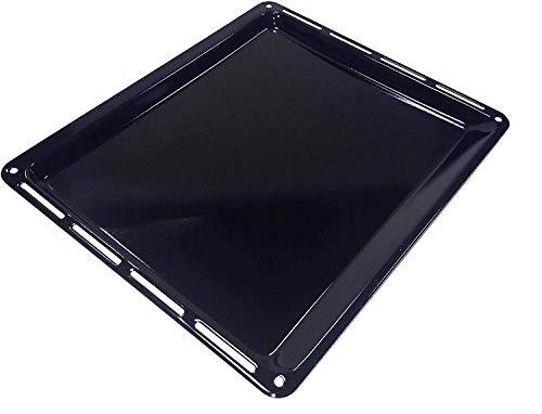 ICQN 445 x 375 x 25 mm Backblech   Passend für Whirlpool Ignis Bauknecht   Emailliert   Fettpfanne für Backofen   Kratzfest   44,5 x 37,5 cm