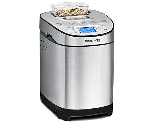 ROMMELSBACHER Brotbackautomat BA 550 - 13 Programme, automatisches Zutatenfach, 2 Brotgrößen (700 g / 900 g), einstellbarer Bräunungsgrad in 3 Stufen, auch...