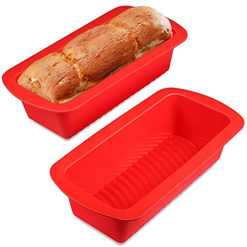 Yosemy Silikon Brotbackform und Kastenform - 2er Set, Silikon Kastenform 26cm,LFGB Zertifiziert BPA-frei Brotbackform für 500g Brot, Antihaft & Leicht zu...