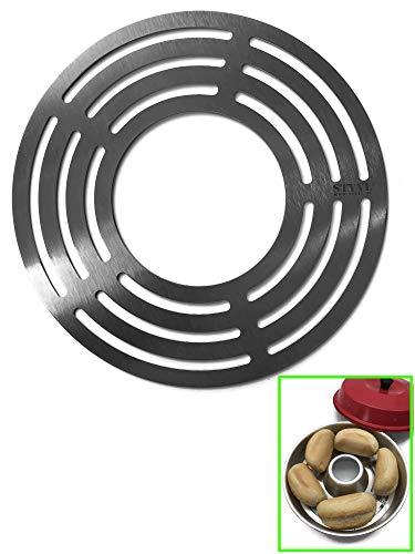 STYYL Aufbackgitter (1.ste Ebene) passend für OMNIA®-Backofen aus Edelstahl | Backblech | Zusatzblech | Backgitter | Edelstahlgitter | unterer Boden |...