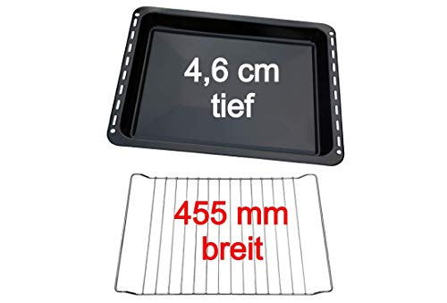 UD UNIQ DEALZ Set 455x370x46 mm extra tiefes Backblech und Backrost passend für Bosch/Siemens/Constructa/Neff BSH-Gruppe für Teile Nr. 675876 und 662999 /...