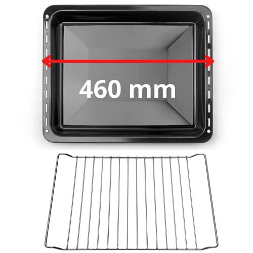 UNIQDEALZ 460x370x25 mm SparSET Backblech und Backrost/Fettpfanne emailliert/passend für Bosch/Siemens/Constructa/Neff Teile Nr. 675876 und 662999 /...