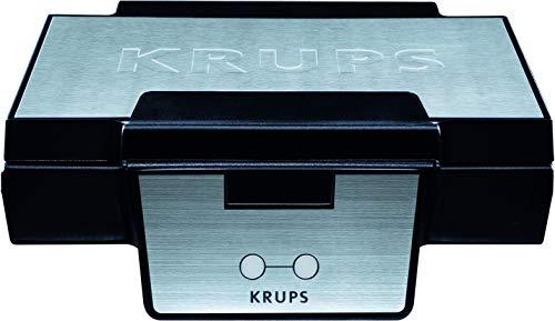 Krups Waffeleisen FDK251 | Doppelwaffeleisen | 2 Belgische Waffeln gleichzeitig | Antihaftbeschichtete Platten (spülmaschinengeeignet) | Für rechteckige...