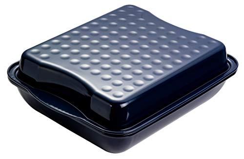 Dr. Oetker Maxi-Bräter mit Deckel, Brat- und Auflaufform aus hochwertigem Stahlblech mit Emaillierung, eckige Form aus schnitt- und kratzfestem Stahlblech -...