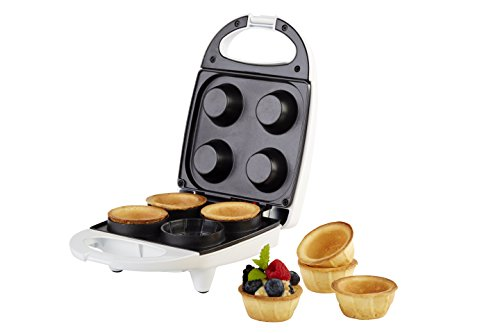 Korona 41011 Waffelcup-Maker Weiß für Waffelcups mit 6 cm Durchmesser - Waffeleisen für 4 Cup Waffeln - Waffel Toaster