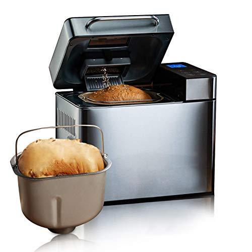 Meykey Brotbackautomat Backmeister Brotbackmaschine mit 19 Programme für 500g-1000g Brotgewicht, 710W, 15 Stunden Timing-Funktion, Warmhaltefunktion,...