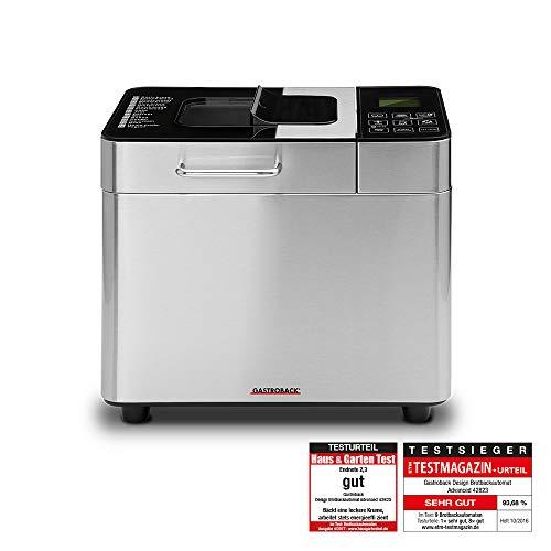 Gastroback 42823 Design Brotbackautomat Advanced, Edelstahl Brotbackmaschine 18 Programme, automatisches Zutatenfach, für 500g, 750g und 1.000g...