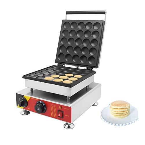 cgoldenwall NP-800 Commercial Mini Muffin Maschine Antihaft Dorayaki Maker Automatische Poffertjes Grill Maschine Dutch Pfannkuchen Maschine Waffelautomat...