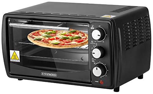 Mini Backofen 13 Liter | Pizzaofen | 65°-230°C | Timer | aufklappbares Krümelblech | Minibackofen | Backofen | Kleiner Backofen | 1200 Watt