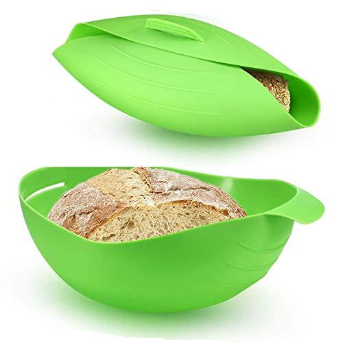 Hezhu 2 Stück Silikon Brot Backform Brotbackform Brotbackschale Backen Backblech