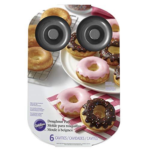 Wilton 03-3115 Donut-Backform, antihaftbeschichtet, groß, 6 Löcher, Stahl