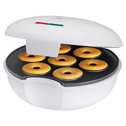 Clatronic Donut-Maker DM 3495, für bis zu 7 Bagels / Donuts, antihaftbeschichtet, 900 Watt, weiß