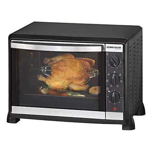 ROMMELSBACHER Back & Grill Ofen BG 1550 - 30 Liter Backraum, 7 Heizarten, Umluft, Drehspieß, Temperaturen von 80 - 230 °C, Doppelverglasung, Innenbeleuchtung,...