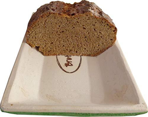 Brot Backform Keramik Brot Back Mulde für 500g Brot und bis zu 750 gr Brot, hergestellt mit Ton aus Deutschland, produziert in Bayern. Brotrezepte im Web...