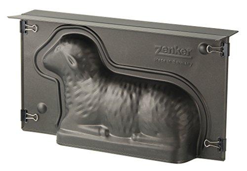 Zenker 9101 Lamm Backform,Lammform mit Antihaftbeschichtung für Ostern,Osterlamm-Backform (Kuchenform: ca.275x150x65 mm),Menge: 1 Stück