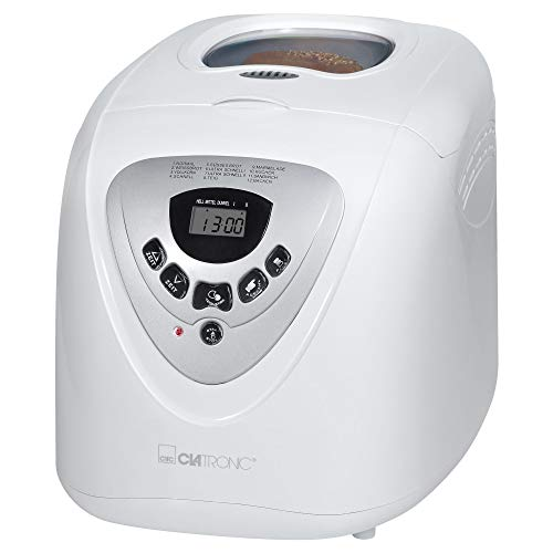 Clatronic BBA 3505 Brotbackautomat (Kneten, Aufgehen, Backen), 12 Backprogramme, LCD Display, ca. 2 Liter; Krustenbräunung einstellbar