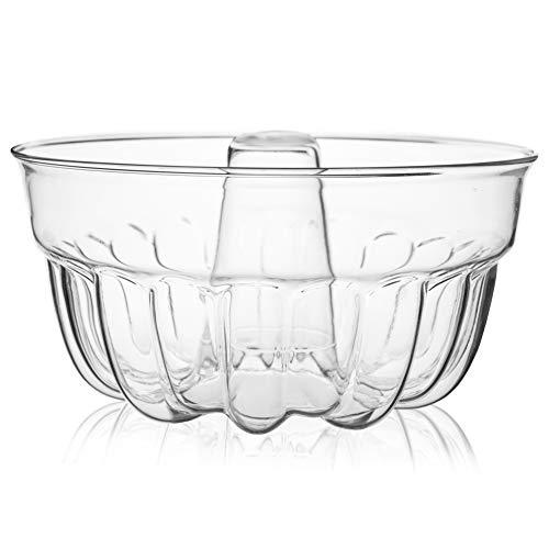 SIMAX Gugelhupfform Gugelhupf aus Borosilikatglas Runde Backform Kuchenform Napfkuchenform Ø 20,5 cm