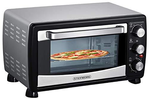 Mini Backofen 20 Liter | Pizza-Ofen | Minibackofen | 3in1 Backofen mit Umluft | herausnehmbares Krümmelblech | 100°C - 250°C | 1400 W | Ober-/Unterhitze |...