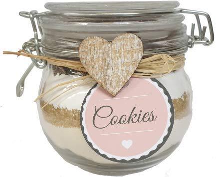Schokolade Cookies Backmischung im 450ml Glas - nettes Geschenk