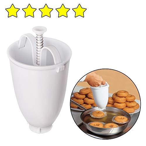 AMhomely 2019 Donut Machen Werkzeug/DIY Backwerkzeug - Neu!Kunststoff Donut Maker Maschine Schimmel DIY Tool Küche Gebäck Machen Backformen (Weiß)