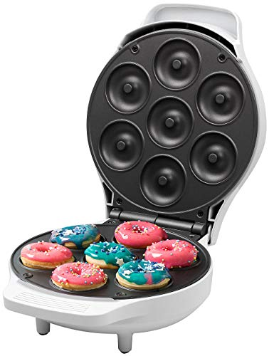 Rosenstein & Söhne Donut-Waffeleisen: Mini-Donut-Maker, antihaftbeschichtet, 1.000 Watt (Donut-Maker-Maschine)
