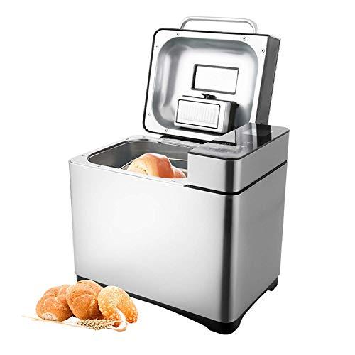 COOCHEER Brotbackautomat 19 Backprogramme,3 verschiedene Bräunungsgrade,Timing-Funktion,500-1000g Brotgewicht,Brotbackmaschine mit Automatische Zutatenbox und...