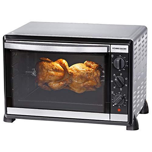 ROMMELSBACHER Back & Grill Ofen BG 1805/E - 42 Liter Backraum, 7 Heizarten, Umluft, Drehspieß, Temperaturen von 80 - 230 °C, Doppelverglasung,...