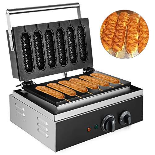 VEVOR Waffelmaschine 1500 W, Waffeleisen 385 x 370 x 100 mm, Waffelautomat 130 x 30 mm Jede Waffelgröße, Waffle Maker 50-300 °C, 0-5 Minuten, Waffeleisen Eis...