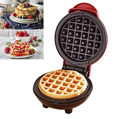 Augproveshak Mini Waffeleisen Maschine, elektrische Pfannkuchenmaschine, Antihaft, Tiefe Kochplatten, kleine Waffeleisen für Kinder Machen Kekse, Pfannkuchen,...