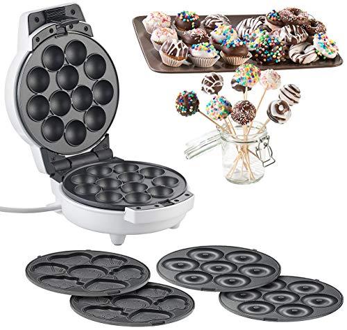 Rosenstein & Söhne Donutmaker: 3in1-Donut-, Cupcake- und Cakepop-Maker, antihaftbeschichtet, 600 Watt (Donatmaker)