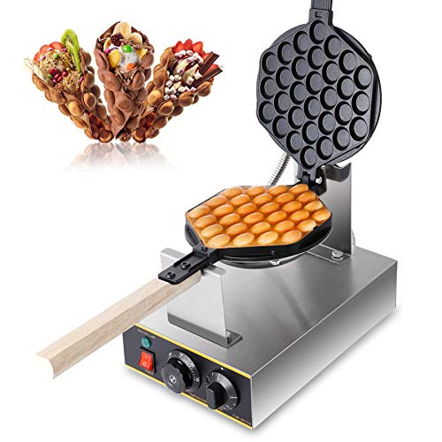 Z ZELUS Bubble Waffeleisen Waffle Maker 180° Drehbare Elektrische Waffelmaschine Waffelgerät Waffeleisen Waffelmaschine Antihaftbeschichtet Egglettes Maker...