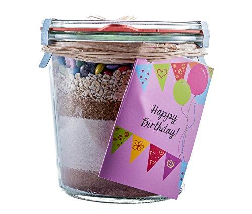 Löbke Hof Backmischung Geburtstags-Kuchen'Happy Birthday' 580ml Sturz-Weckglas