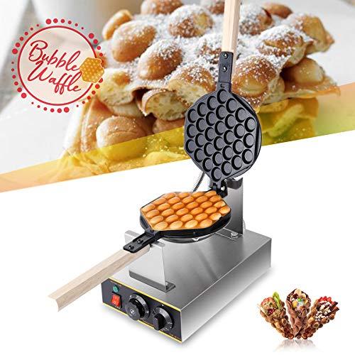 CO-Z 1400W Bubble Waffeleisen Waffle Maker 180° Drehbare Elektrische Waffelmaschine Waffelgerät Waffelmaschine Ei Waffeleisen Antihaftbeschichtet Egglettes...