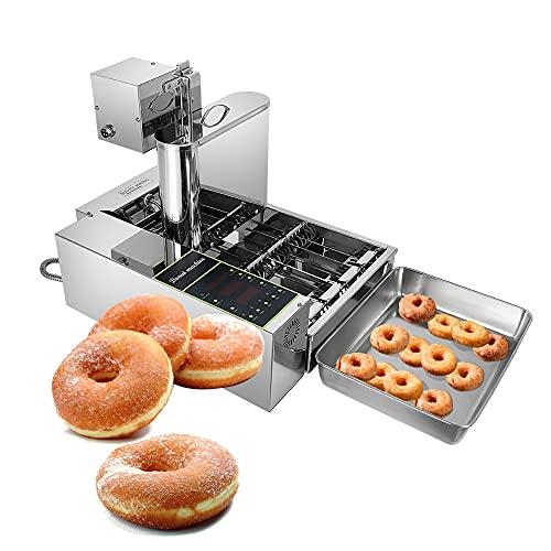 Automatische Donut-Maschine Kommerziell Digitale Donut-Friteuse Kommerzieller Mini Donut Maker Donut Machine Maker Einstellbare Donutstärke Rostfreier Stahl...
